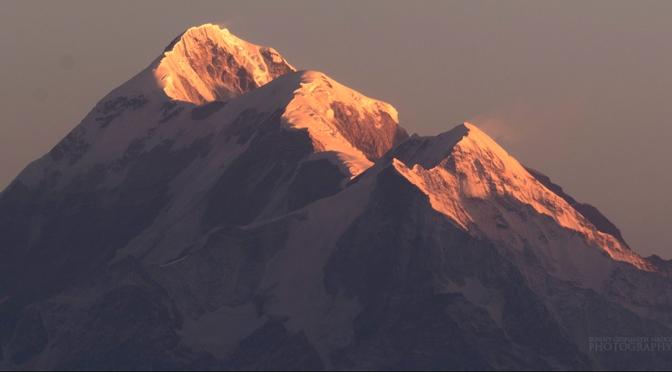 Kausani : Best view of the Nanda devi range